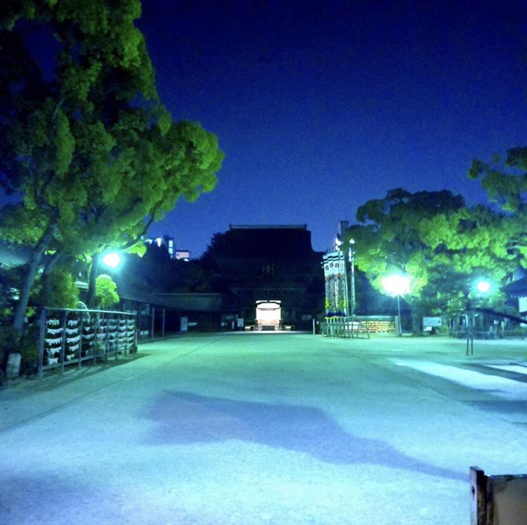 【箱崎駅前グラッセ】夜のお散歩コース