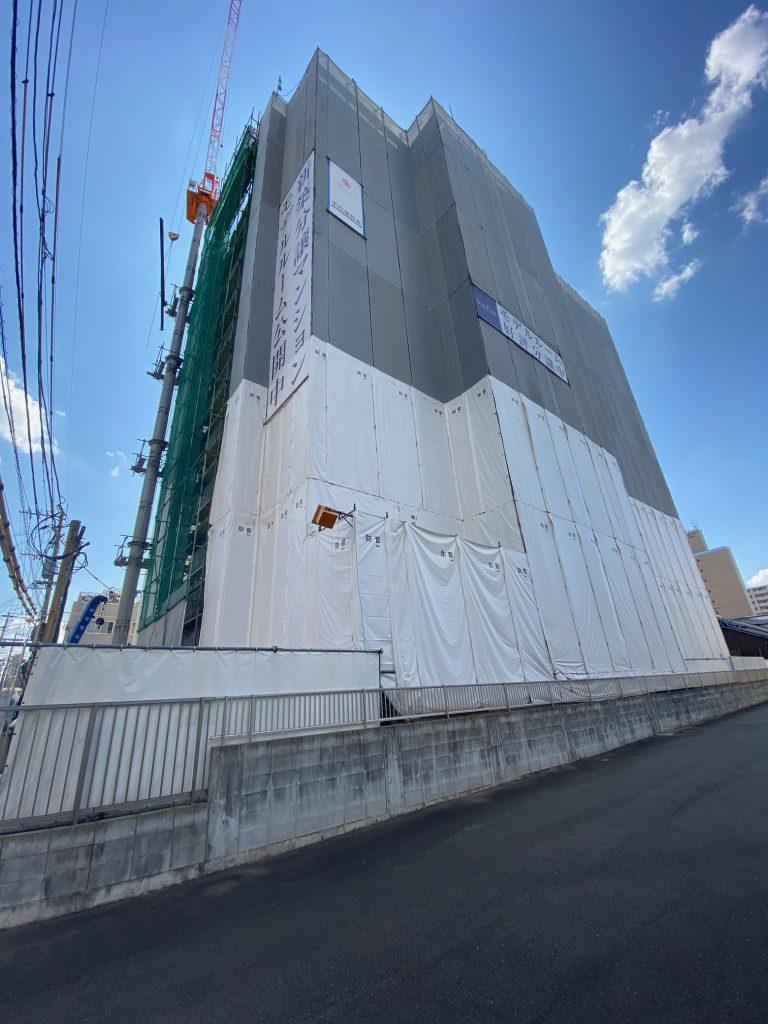 【箱崎駅前グラッセ】工事の進捗状況について